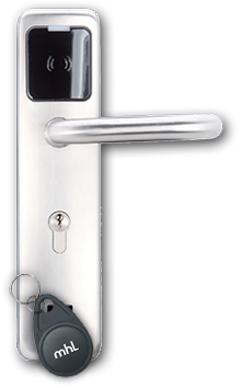 Béquille électronique avec badge porte clés mhl