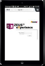 Gestion des temps SaaS ZEUS X iPad
